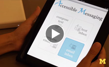 Accessible messaging enables communication